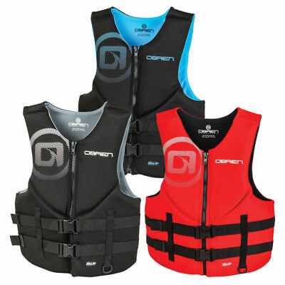 O'brien Traditional Neoprene Bouyancy Aid Vest Impact Wake Ski Black