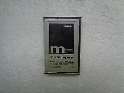 Obscur Vintage Audio Cassette MUSITAPES C90 From 1980's - Excellent Condition !