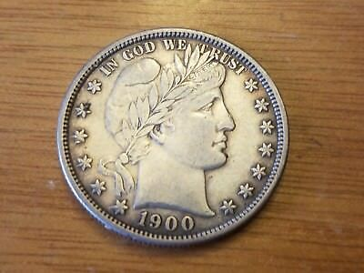 1900 P Philadelphia 50 C Silver Barber Liberty Half Dollar Liberty Circulated