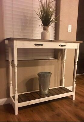farmhuse entry way table - Antique white
