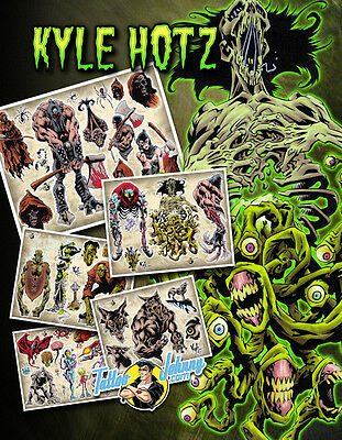 Tattoo Johnny Kyle Hotz Master of the Macabre Flash Set