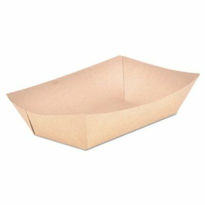 SCT Food Trays, Paperboard, Brown/White Check, 5-Lb Capacity (SCH0529)