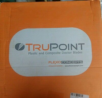 FLEXO PRINT Anilox Roller Blades TruPoint Orange Doctor Blades  box of 20 (A943)