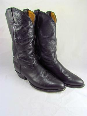 cd98f9baa1f VINTAGE TONY LAMA Ol' Buck #6156 Men's 12 EE Black Leather Cowboy ...