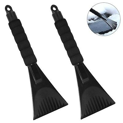 2 Pack Snow Ice Scraper Removal for Car with Foam Handle,Heavy-duty Frost... New