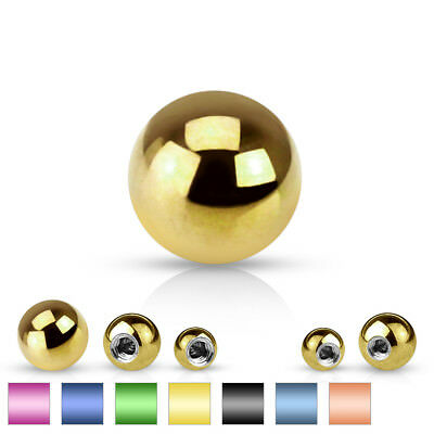 Body Jewelry Replacement Parts - 10pk Titanium Plated Steel Threaded Balls