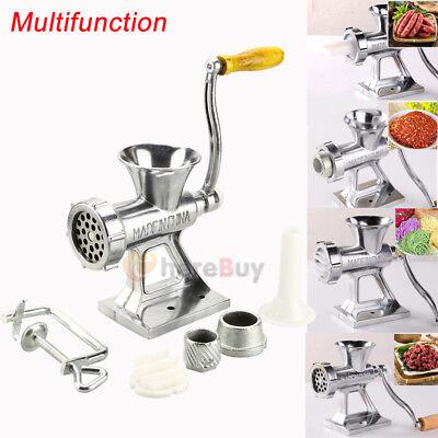 2800W 2.6 HP Industrial Shop Electric Meat Grinder Meats Grind w/3 Blade Cutter
