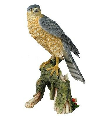 "10.75"" Sparrow Hawk Nature Wildlife Animal Statue Collectible Wild Sculpture"