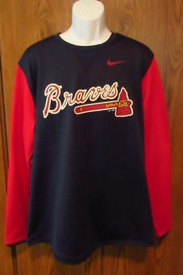 online store 394f4 974b3 NIKE ATLANTA BRAVES Long Sleeve T-Shirt Two Color Red & Blue MSRP $70 XL  New MLB