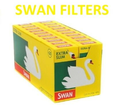 Swan Extra Slim Cigarette Filter Tips Full Box of 20 packs only £10.99 full Box