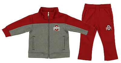 Outer Stuff NCAA Infant Ohio State Buckeyes Red 2 Piece Logo Full Zip Track Set