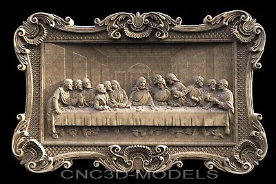 3D Model STL for CNC Router Carving Artcam Aspire Da Vinci's Last Supper g803