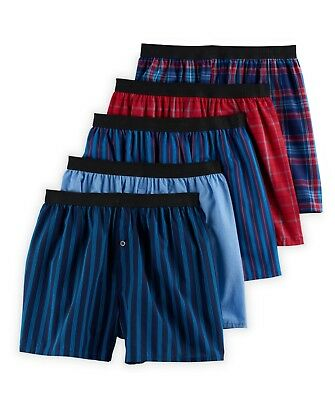 NWT Men's Fruit of the Loom Signature 5-Pack Relaxed Fit Boxers