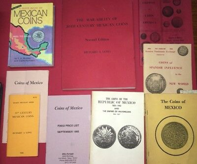 9 Books Coins Of Mexico Availability Of 20th Century Mexican Coins Spanish Latin