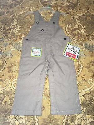 NWT Baby Boy or Girl Wrangler Gray Overalls with Pockets (6-9 Months)