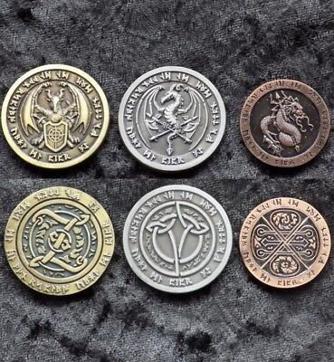 Fantasy Fire Dragon Coins (Set of 3)