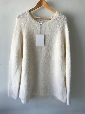 [WITCHERY] NEW! [SZ S,M,L] boucle slouch knit - pearl 10,12,14