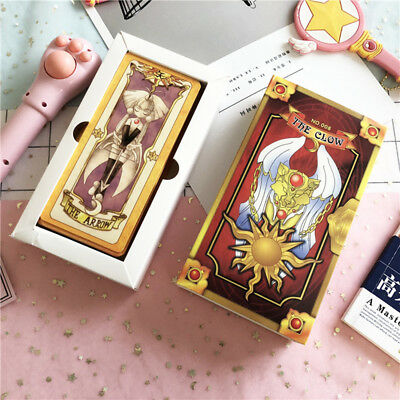 Hot Japan Anime 1Set/56Pcs Card Captor Sakura Clow Cards Collections Gift