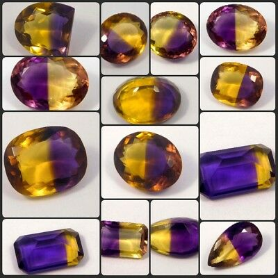 Natural Dyed Hydro Lovely Ametrine Faceted Cut Cabochon Gemstone NG12510-12555