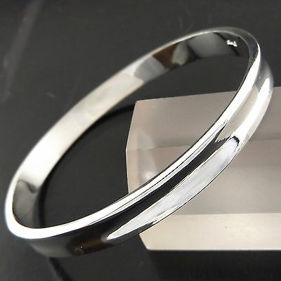 Bangle Cuff Bracelet Genuine Real 925 Sterling Silver S/f Solid Golf Design