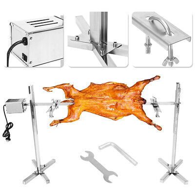 Top  Large Grill Rotisserie Spit Roaster Rod Charcoal BBQ Pig Chicken 15W Motor