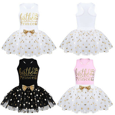 Girls Princess Dress Child Baby Clothes Birthday Gift Sleeveless Tops+Tutu Skirt