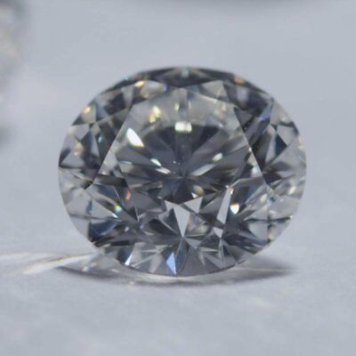 Loose Moissanite Grey Color VVS2 6.75 MM to 8.85 MM Round Excellent Cut