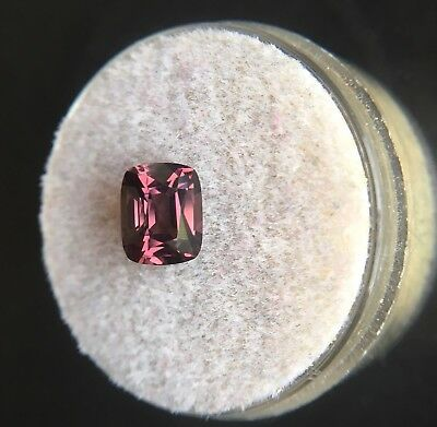 Loose NATURAL Pink Purple Spinel 1.34ct UNTREATED Antique Cushion Cut Gem RARE