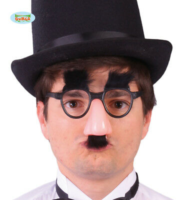 Groucho Marx Style Glasses With Nose And Moustache And Eyebrows Fancy Dress