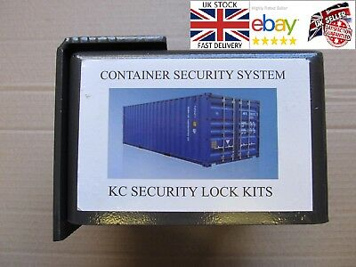 Shipping container lorry warehouse bolt on lock box with heavy duty padlock