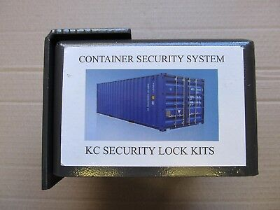 Shipping container lock box high security heavy duty with premium padlock