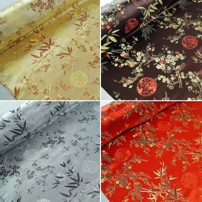 Embroidered Chinese Brocade Fabric Freedom Talisman 100% Polyester