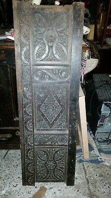 antique carved wood panel oak