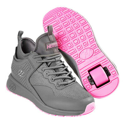 Heelys Piper Grey/Pink Roller Shoes - UK Size 2 and Adult 7 SALE!