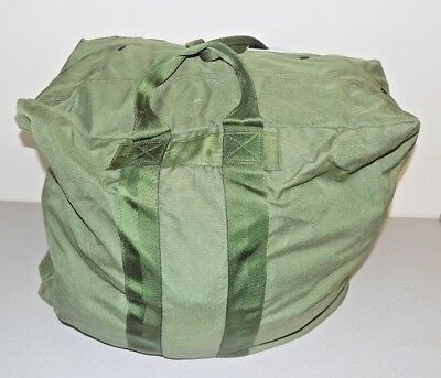 0e54c98f8cb930 USAF Military Olive Green Nylon Zip Snap Aircraft Pilot Flyers Kit Bag A-3