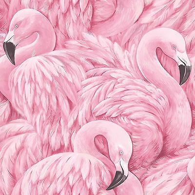 Flamingo Wallpaper Pink - Rasch 277890 New