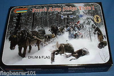 Strelets 133 Napoleonic French Army Sledge Train 1. 1/72 Scale Unpainted Plastic