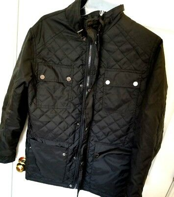 Mens Advocate Black Quilted Field Styled Jacket Never Worn Size S