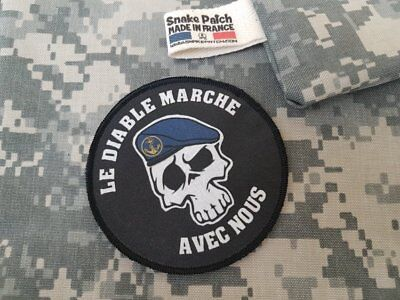 "SNAKE PATCH - écusson TDM "" LE DIABLE MARCHE AVEC NOUS "" Scratch opex FRANCE"
