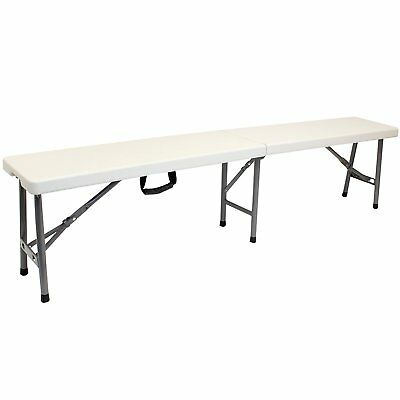 NEW! 6ft Portable Folding Heavy Duty 4 Person Outdoor Trestle Bench