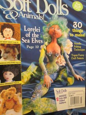 Soft Dolls & Animals May 2002 Magazine-Geisha/Mermaid/Butterscotch Teddy/Fire Dr