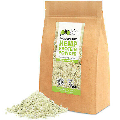 Pipkin Pure Hemp Plant Protein Powder 100% Organic Raw Unflavoured Vegan - 300g