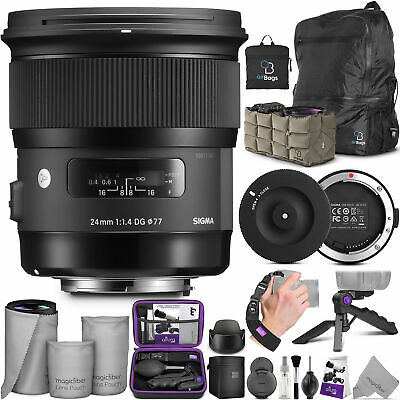 Sigma 24mm F1.4 Art DG HSM Lens for Canon DSLR Cameras with USB Dock and Bundle