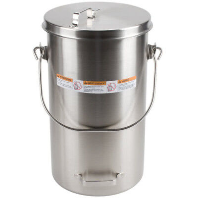 Vollrath 59200 Stainless Steel Covered Ice Cream Pail Container With Lid 20 Qt.