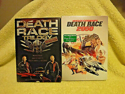 New/Sealed 2 Dvd Set! Death Race Trilogy Unrated! 3 Films, Rated R! + Slipcover!