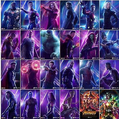 "Avengers Infinity War Movie Poster 13x20"" 27x40"" 32x48"" Characters Film Print"