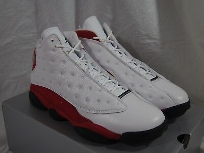 531bc9c70c072e NIKE AIR JORDAN Retro 13 XIII OG Wht Blck True Red CHICAGO 414571 ...