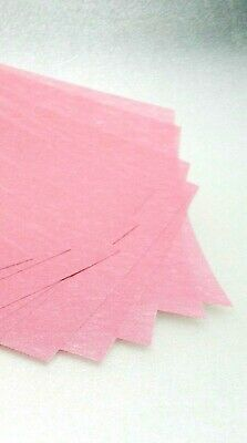 3M Tri-Mite Wet or Dry Polishing Paper 4000 Grit 3 Micron Pink Pack of 5 Sheets