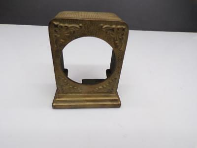 Vintage  Desk Mantle Clock Brass-tone Cast Iron Shell Case-only  Craft Art E425b