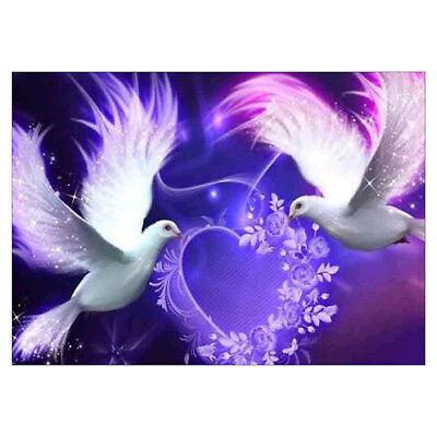 Doves 5D DIY Full Drill Diamond Embroidery Painting Rhinestone Home Office Decor